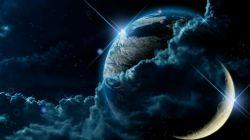 کره زمین و کره ماه از نمایی بسیار دیدنی