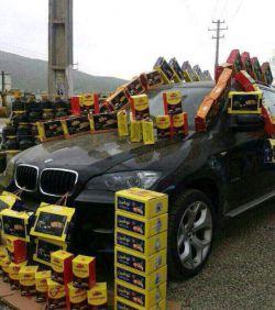 دستفروشی کلوچه با BMW