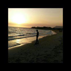 پسر گلم غروب زیبای ساحل عسلویه