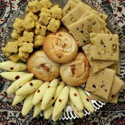 شیرینی های سنتی زنجان  شیرینی شستی شیرینی نخودچی شیرینی نان برنجی سوهان زنجان