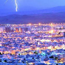 رعد و برق در آسمان زنجان