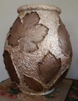 پاییز بی تا - هنر پتینه روی سفال - گلدان و خَمره - مریم نامدار