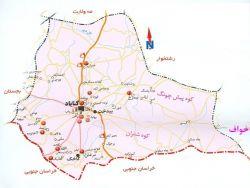 نقشه شهرستان گناباد