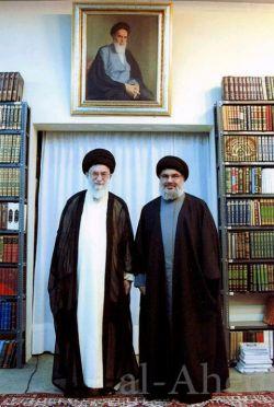 حضرت آیت الله خامنه ای و سید حسن نصرالله #iran #imamali #islamic
