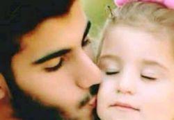 در این شبها  دلم برای نوازش های مهربانه ات تنگ شده برادر حنین کوچولو خواهر شهیداحمد محمد مشلب