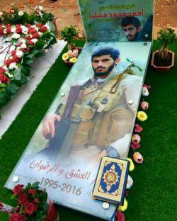 مزار شهید مدافع حرم♥شهید احمد محمد مشلب♥شهید لبنانی