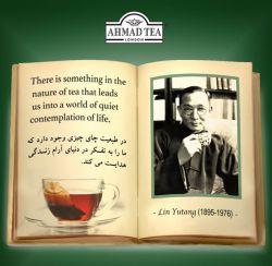 در طبیعت چای چیزی وجود دارد کہ ما را بہ تفکر در دنیای آرام زندگی ھدایت می کند.