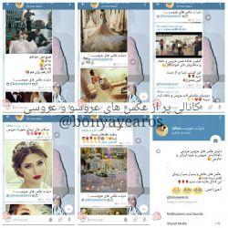 سلام  بعله همینطور که میبینید اینم کانال منو یکی از دوستام:)کانالی پر از عکسای عروس؛عروس و داماد؛مدل ارایشو مو عروس و هر چیز دیگه از عروس داماد و عروسی*^▁^*خوشحال میشم بیاین خواستین بگین لینک بدم