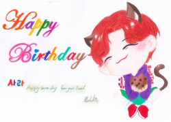 اینو برا تولد یدونه از دوستام کشیدم