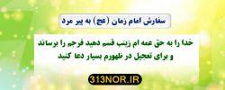 اللهم عجل لولیک الفرج به حق زینب الحوراء