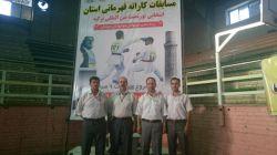 آقایان جودی، جمشیدی،  احمدنژاد،وعبدی نژاد در مسابقات استانی خوی