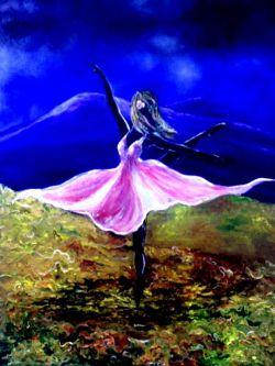 نام اثر شکوه بهار.رنگ روغن ۵۰×۷۰