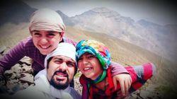 قله ساکا، همرا با فرزندان