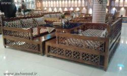 تخت سنتی گره چینی طراحی و ساخت از گروه فن و هنر ایران زمین