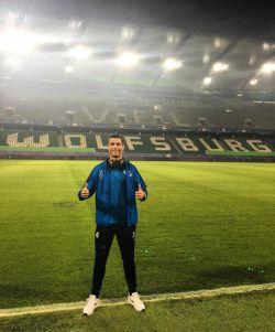 رونالدو در ورزشگاه وولفسبورگ