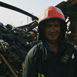 عملیات پاکسازی انبارBSDR پس از اطفاء حریق