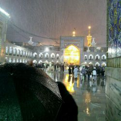 یادش بخیر خاطره این عکس : یه روز بارانی در حرم ارباب رئوف با چشمهای بارانی. خدایا دلتنگ اربابم دلتنگ مشهدم اللهم الرزقنا. السلام علیک ایهاالسلطان