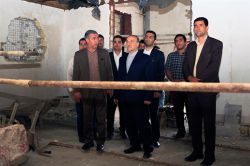 بازدید دکتر سلطانی فر از پروژه موزه یاسوج - 24 مرداد 1395