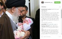 #بهداد_سلیمی با انتشار تصویری از فرزندش در آغوش #رهبری،از #امام_خامنه ای بابت قدردانی و حمایت از ورزشکاران تقدیر کرد