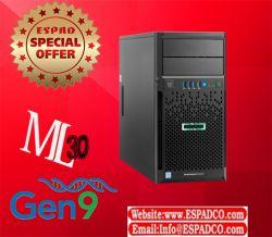HPE ProLiant ML30 Gen9 Server سرور مدل ML30 G9 جدید ترین سرور ایستاده شرکت hpe که از پردازنده های سری E3-1200 V5 پشتیبانی می کند این دستگاه از سری پردازنده های زئون E3-1200 v5 و همچنین CORE i3 و PENTIUM پشتیبانی می کند و دارای چهار درگاه هارد با اندازه 3.5 اینچ بوده که این امکان را میدهد تا 32 ترابایت از آن بهره گرفت دستگاه ML30 تا 64 گیگ رم از سری 2133 DDR4 مگاهرتز به همراه ارور چکینگ را پشتیبانی می کند.