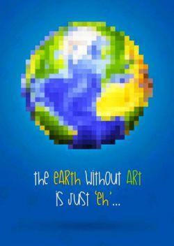 #earth بدون #art ...