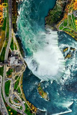 آبشار نیاگارا از نمای بالا!