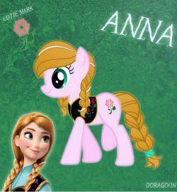 آنا به شکل پونی