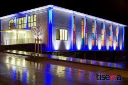طراحی و اجرای نمای ساختمان آورده های روشنایی تیسرا