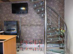 طراح و مجری  نرده های استیل،حفاظ استیل(بانکی)،پله ودرب استیل 09123673032 02166275809 شقاقی