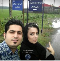 آقای حمید حسینی كركان ( نوه مرحوم فیروز) به همراه همسرش خانم سونیا امینی