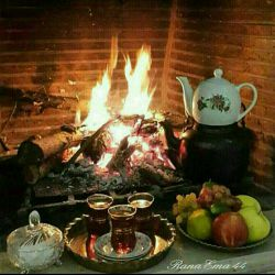 پاییز یعنی.. نم نم باران چای داغ بوی هیزم سوخته.. گاهی ازهمه دنیا  یه فنجان چای میخوای و یه دل خوش..
