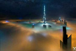 عکس حیرت انگیز از دبی غرق در مه
