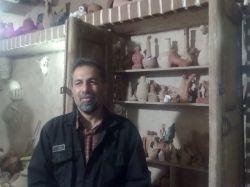 سفال صلصال ساوه و آوه(استاد شمس از هنرمندان خوب آوه )