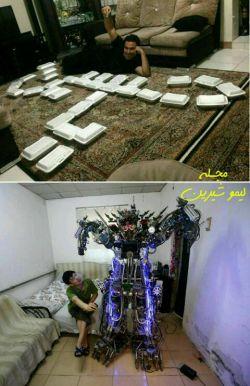 یک جوان موفق در ایران (تصویر بالا) یک جوان موفق در ژاپن(تصویر پایین)
