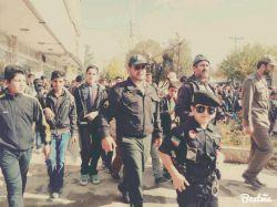 اینم یه #پلیس #کوچولو تو #راهپیمایی #13آبان #عکاس:خودم;)