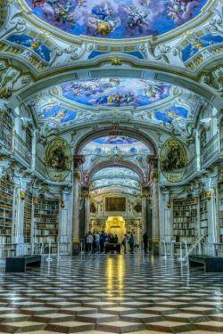 كتابخانه صومعه ای در #اتریش