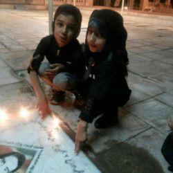 شام غریبان امام حسین .گلزار شهدا .دخترم فاطمه زهرا و پسر خواهرم آقا محمد صالح