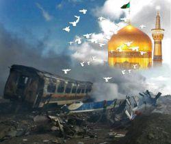 زواری كه مهمان امام رضا(ع) در بهشت شدند.  #حادثه-قطار-مشهد