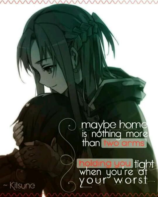 شاید ، خانه جایی نیست به جز دو بازو که تو را در میان میگیرد ؛ زمانی که در بدترین اوضاع هستی!