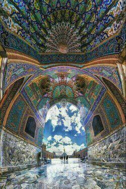 عکسی زیبا از ورودی صحن جمهوری حرم مطهر امام رضا(ع) ❤️_❤️