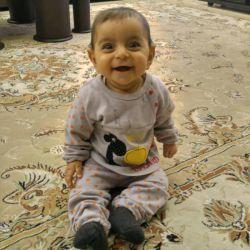 دختر منم به شما با خنده هاش سلام کردهِ. #دخترم #نازنین زهرا