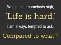 زندگی سخته ولی در مقایسه با چی؟؟