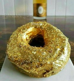 پیراشکی ۱۰۰دلاری قابل خوردن از طلا