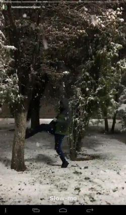 برف بازی فرمانده♥