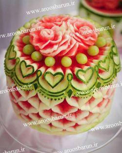 مدل های تزئین هندوانه شب یلدا در سایت عروس برون aroosbarun.ir