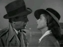 سکانس آخر فیلم کازابلانکا، هامفری بوگارت،لورن باکال، از سکانس های ماندگار تاریخ سینما،و دیالوگ ماندگارتر،«ما هم وقت پیدا کردیم برای عاشق شدن»