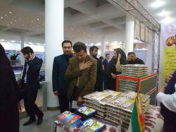 بازدید مهندس مولایی رئیس فنی حرفه ای استان خوزستان از غرفه تعاونی مهرخواه صنعت مردی متواضع از جنس مردم نمایشگاه کسب و کار سال 95