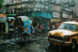 عکس روز نشنال جئوگرافیک  تصویری از یک روز بارانی در کلکته هندوستان