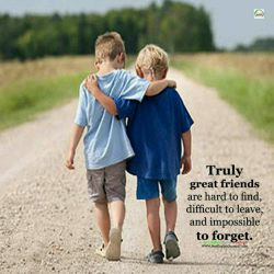 براستی دوستان واقعی، پیدا کردنشان دشوار، ترک انها سخت و فراموش کردنشان غیر ممکن است.