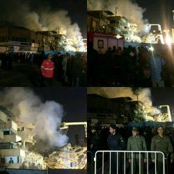 هم اکنون ساختمان پلاسکو....ما هم به ملت ایران این فاجعه رو تسلیت می گوییم #bar_faraz_aseman